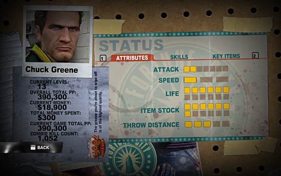 Attribute in Dead Rising 2